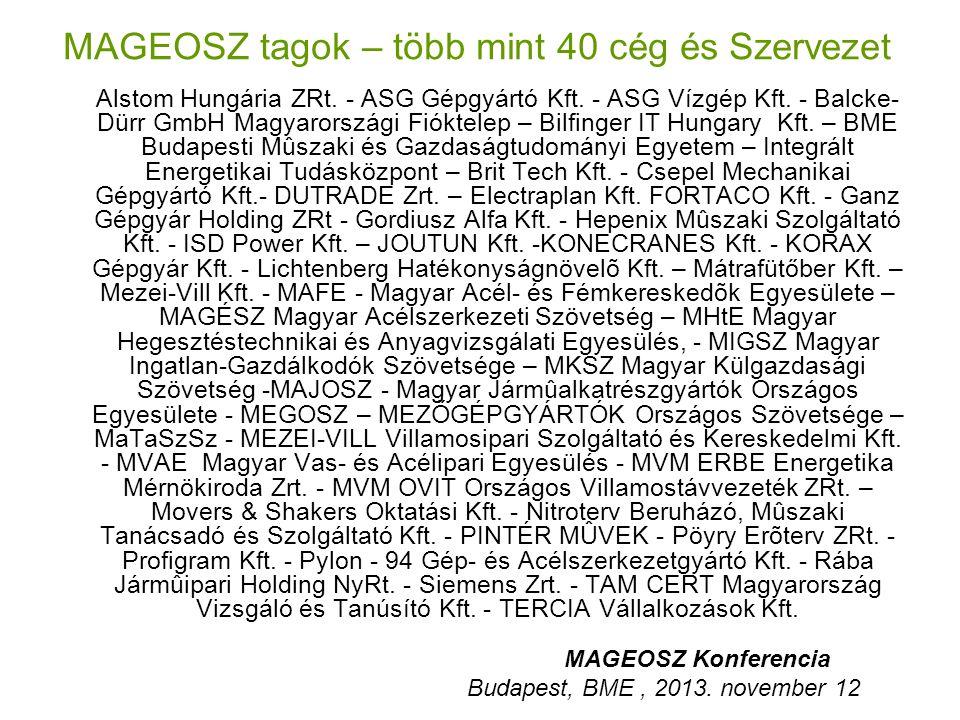 MAGEOSZ tagok – több mint 40 cég és Szervezet