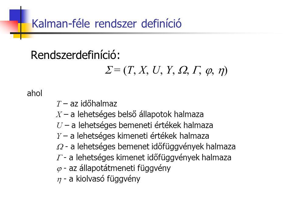 Kalman-féle rendszer definíció