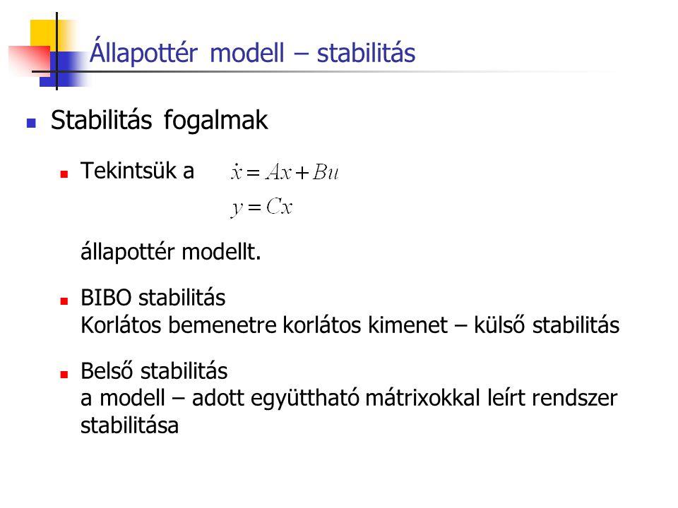 Állapottér modell – stabilitás