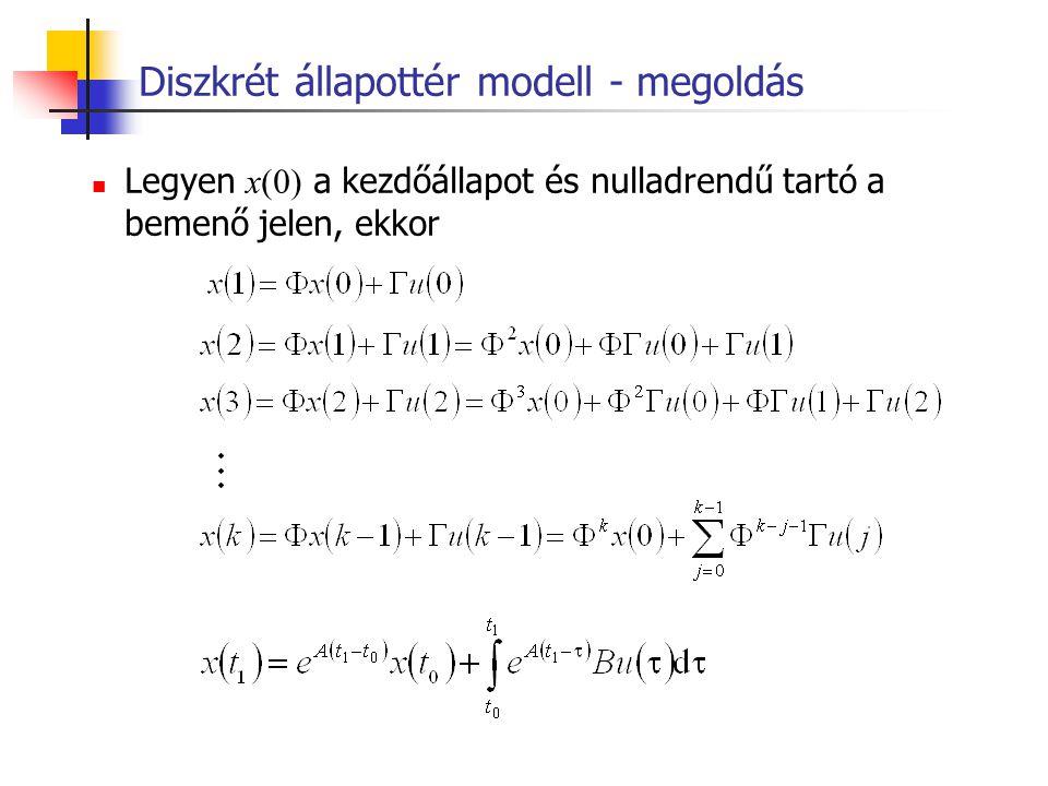 Diszkrét állapottér modell - megoldás