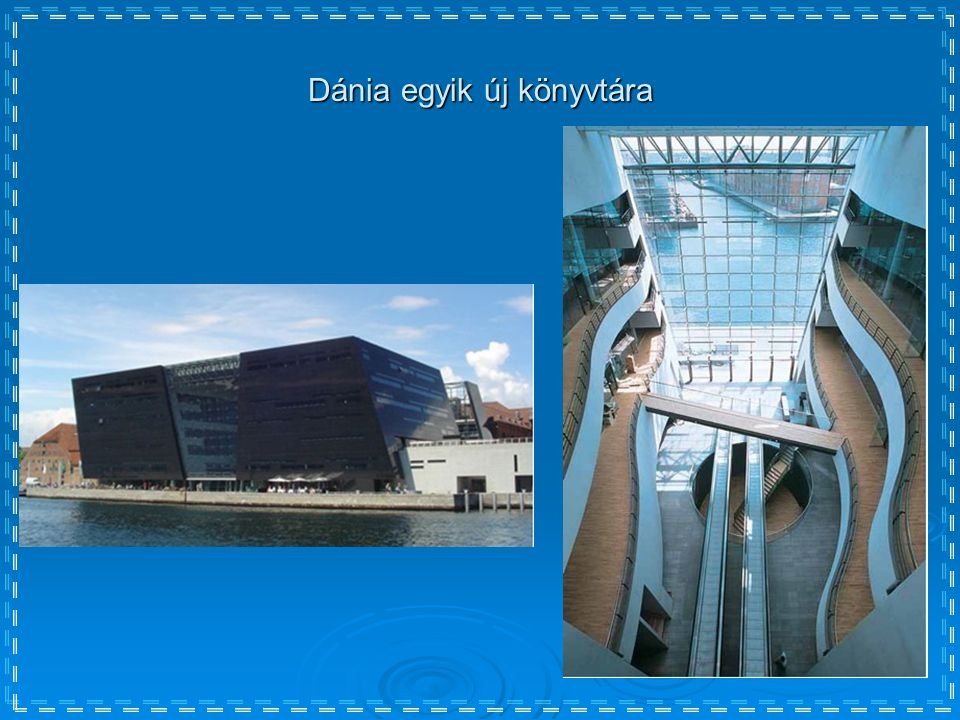 Dánia egyik új könyvtára