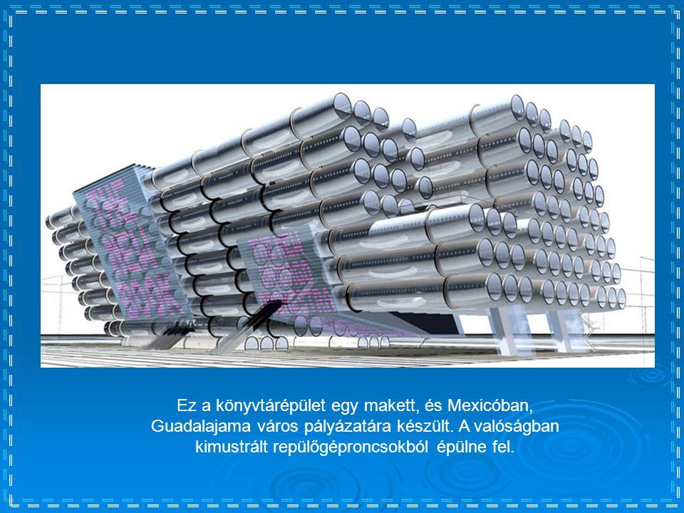 Ez a könyvtárépület egy makett, és Mexicóban, Guadalajama város pályázatára készült.