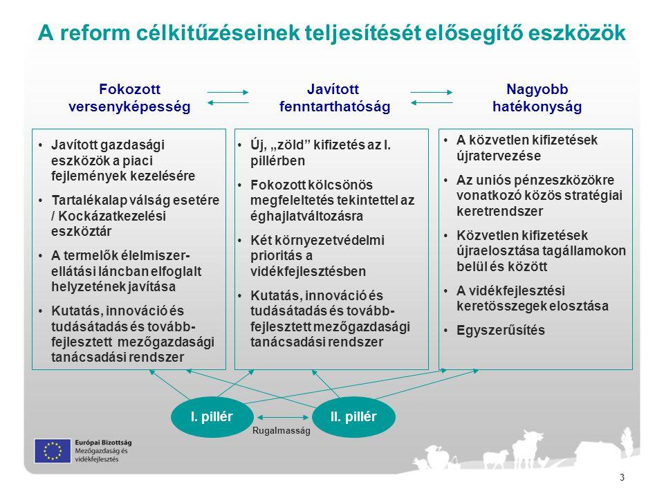 A reform célkitűzéseinek teljesítését elősegítő eszközök