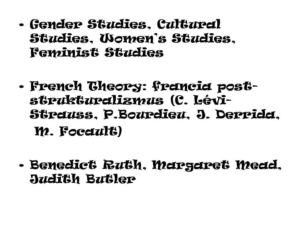 Gender Studies, Cultural Studies, Women's Studies, Feminist Studies