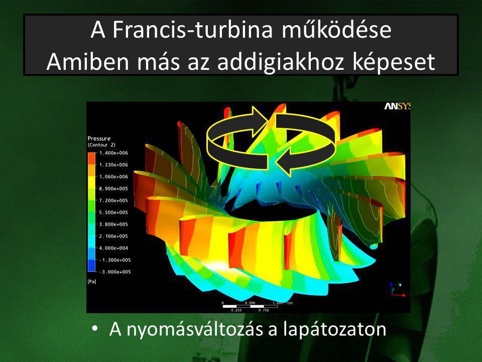 A Francis-turbina működése Amiben más az addigiakhoz képeset