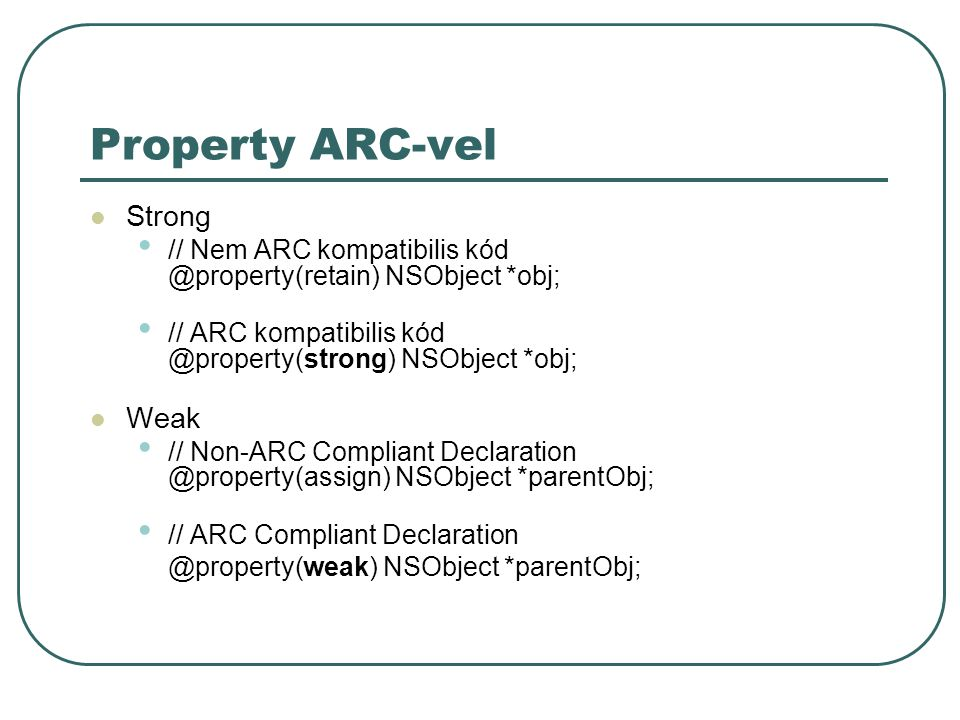 Property ARC-vel Strong Weak