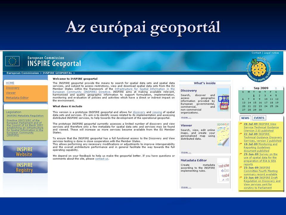 Az európai geoportál