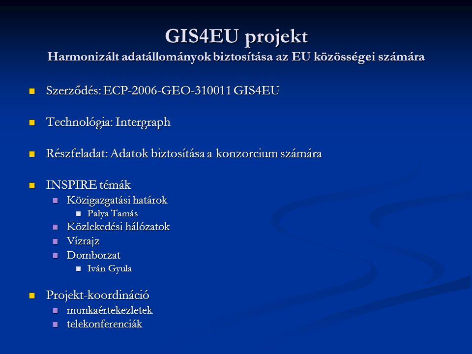 GIS4EU projekt Harmonizált adatállományok biztosítása az EU közösségei számára