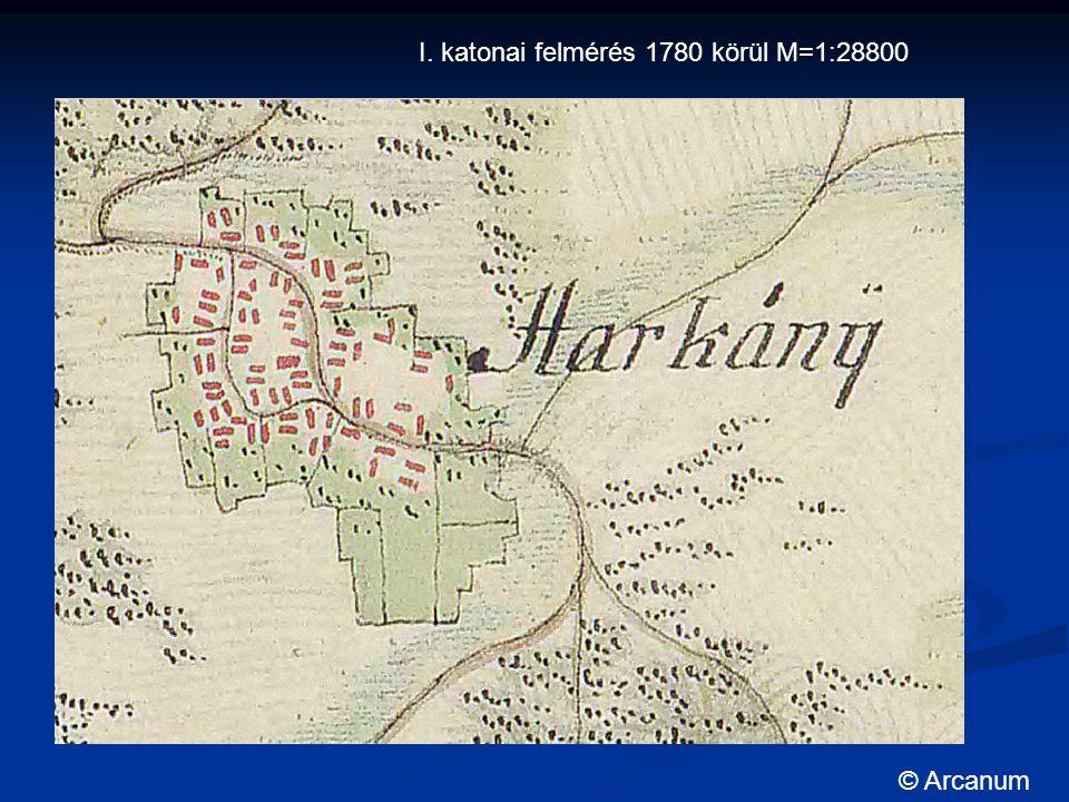 I. katonai felmérés 1780 körül M=1:28800