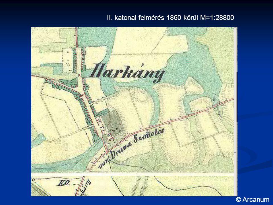II. katonai felmérés 1860 körül M=1:28800