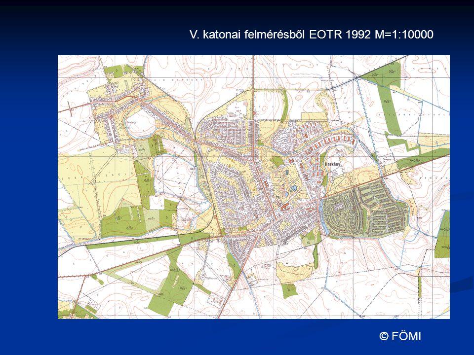 V. katonai felmérésből EOTR 1992 M=1:10000