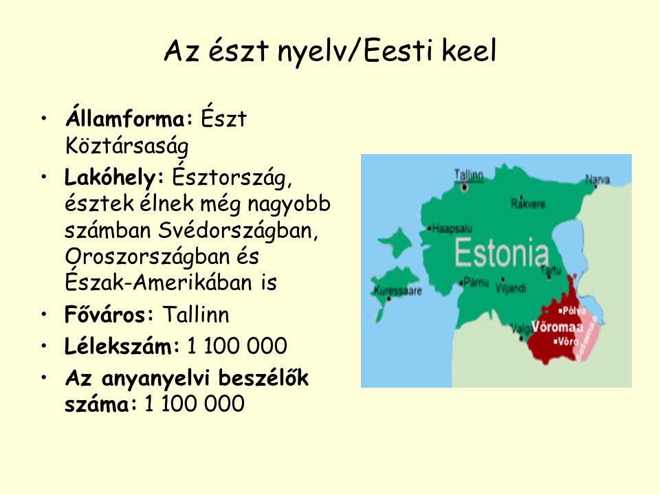 Az észt nyelv/Eesti keel