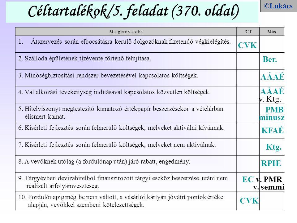 Céltartalékok/5. feladat (370. oldal)