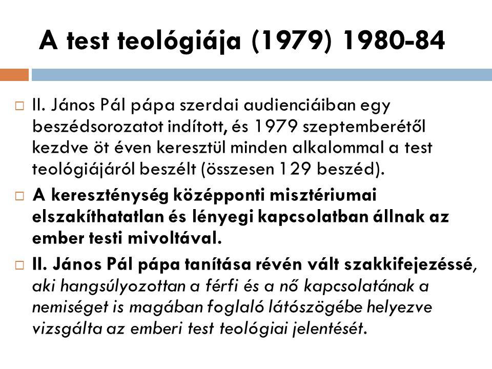 A test teológiája (1979) 1980-84