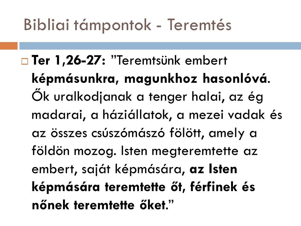 Bibliai támpontok - Teremtés