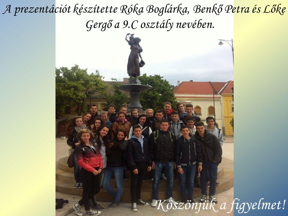 A prezentációt készítette Róka Boglárka, Benkő Petra és Lőke Gergő a 9
