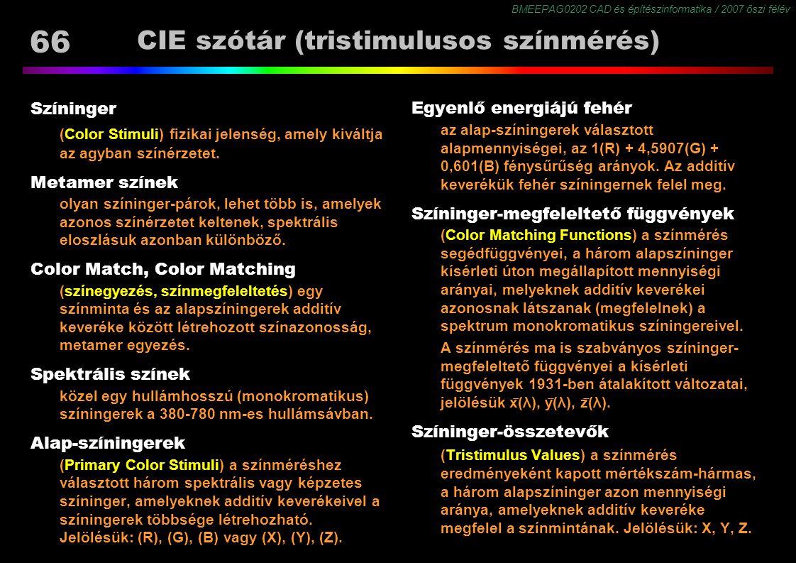 CIE szótár (tristimulusos színmérés)