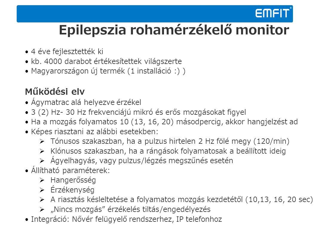 Epilepszia rohamérzékelő monitor