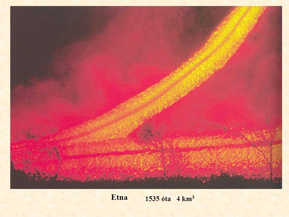 Etna 1535 óta 4 km3