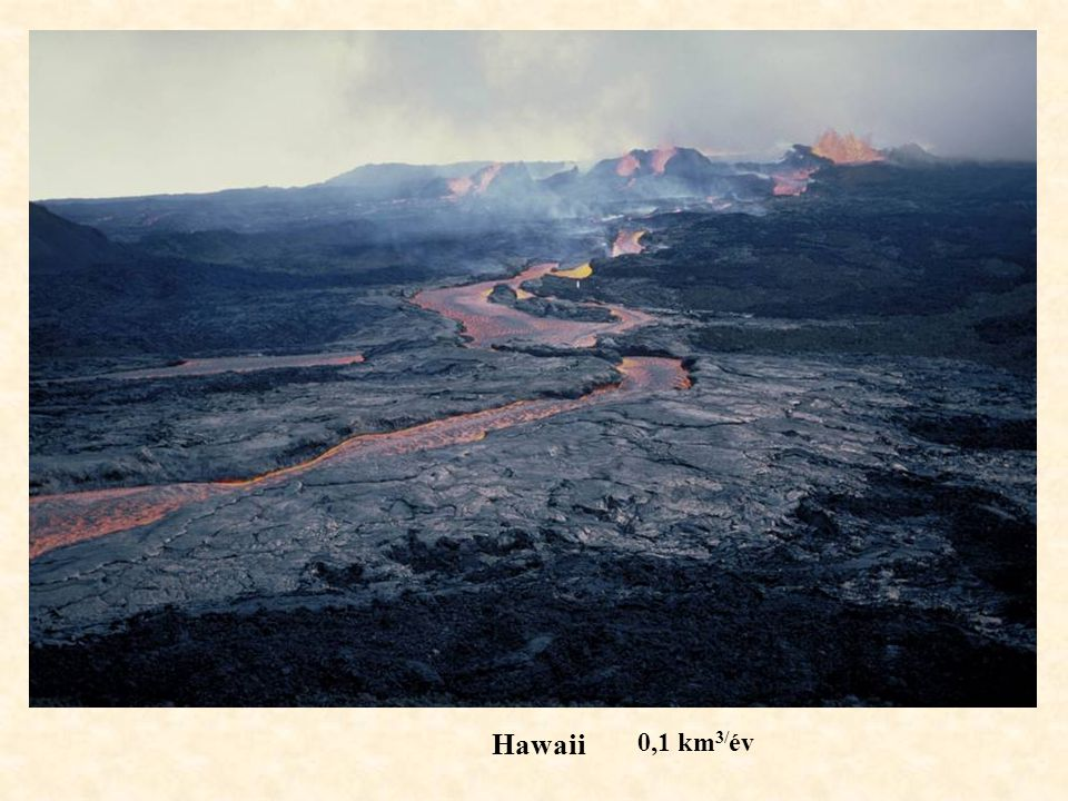 Hawaii 0,1 km3/év