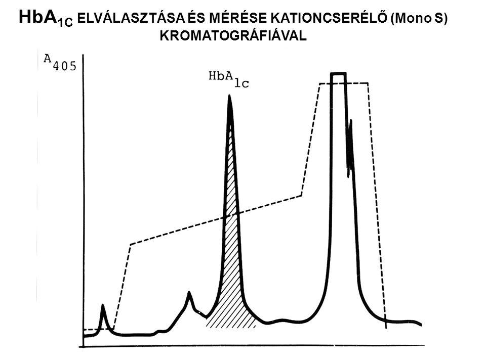 HbA1C ELVÁLASZTÁSA ÉS MÉRÉSE KATIONCSERÉLŐ (Mono S)