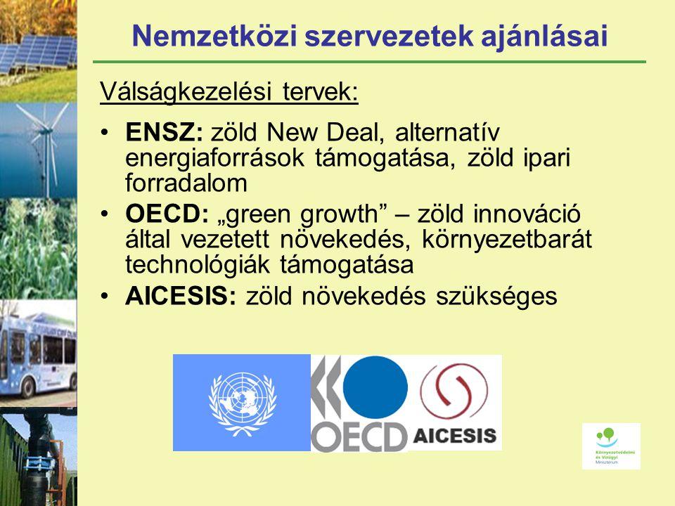 Nemzetközi szervezetek ajánlásai