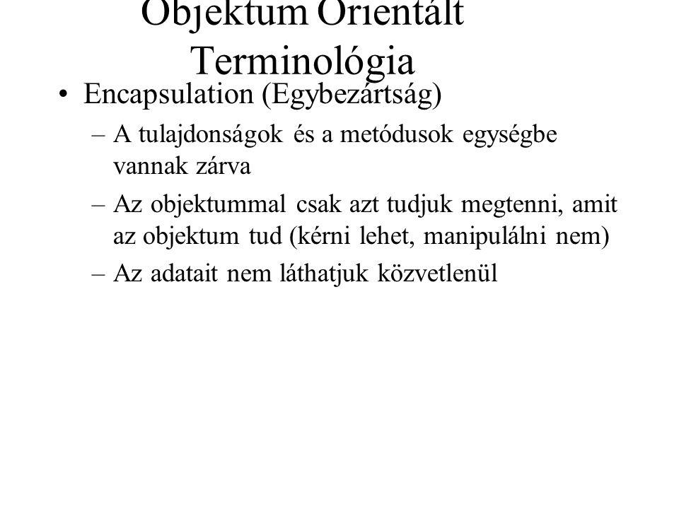 Objektum Orientált Terminológia