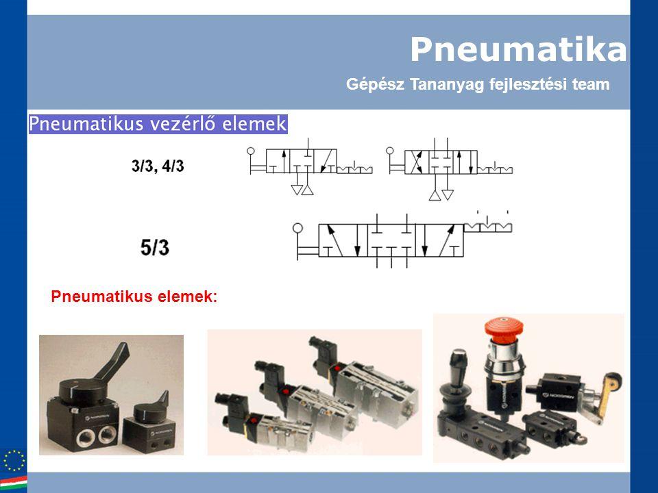 Pneumatika Gépész Tananyag fejlesztési team Pneumatikus elemek: