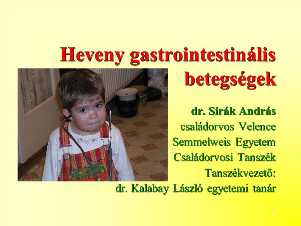 Heveny gastrointestinális betegségek