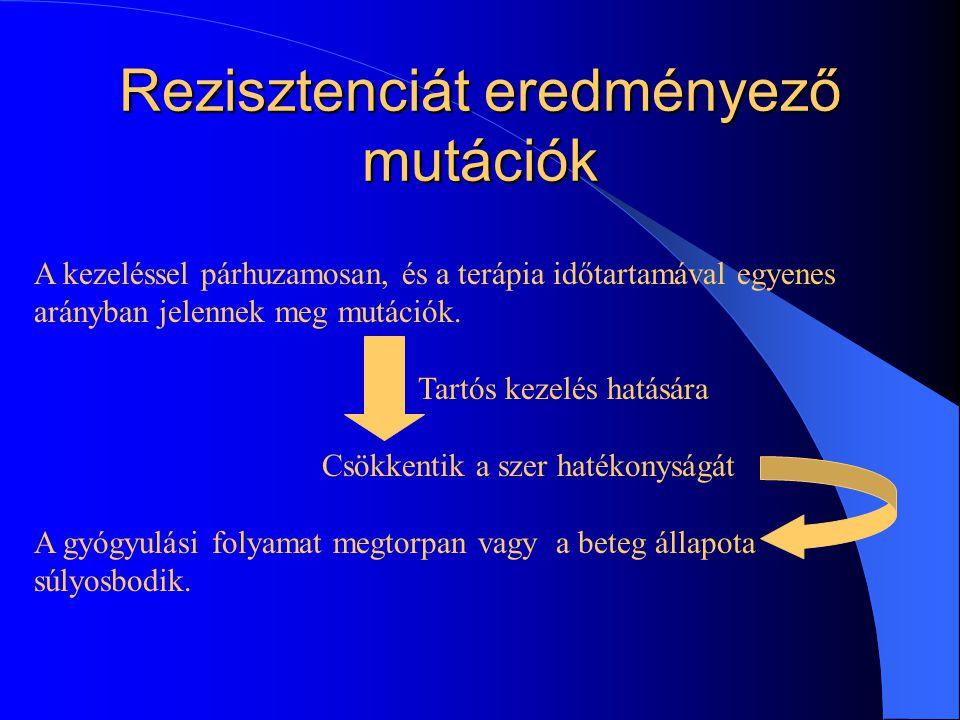 Rezisztenciát eredményező mutációk
