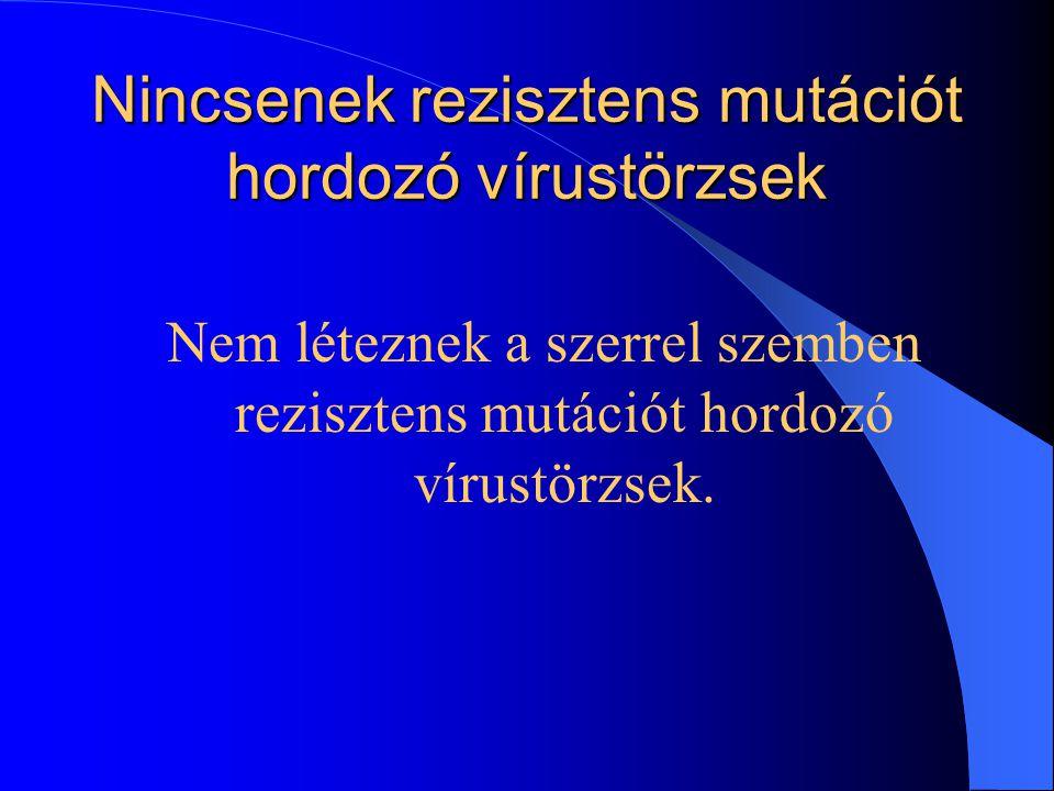 Nincsenek rezisztens mutációt hordozó vírustörzsek