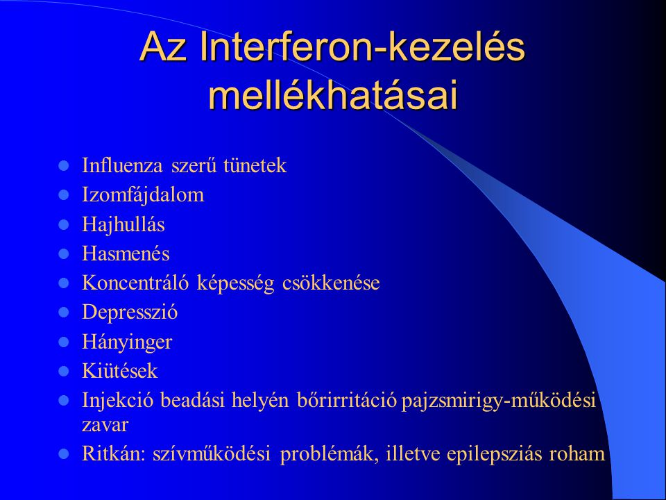Az Interferon-kezelés mellékhatásai