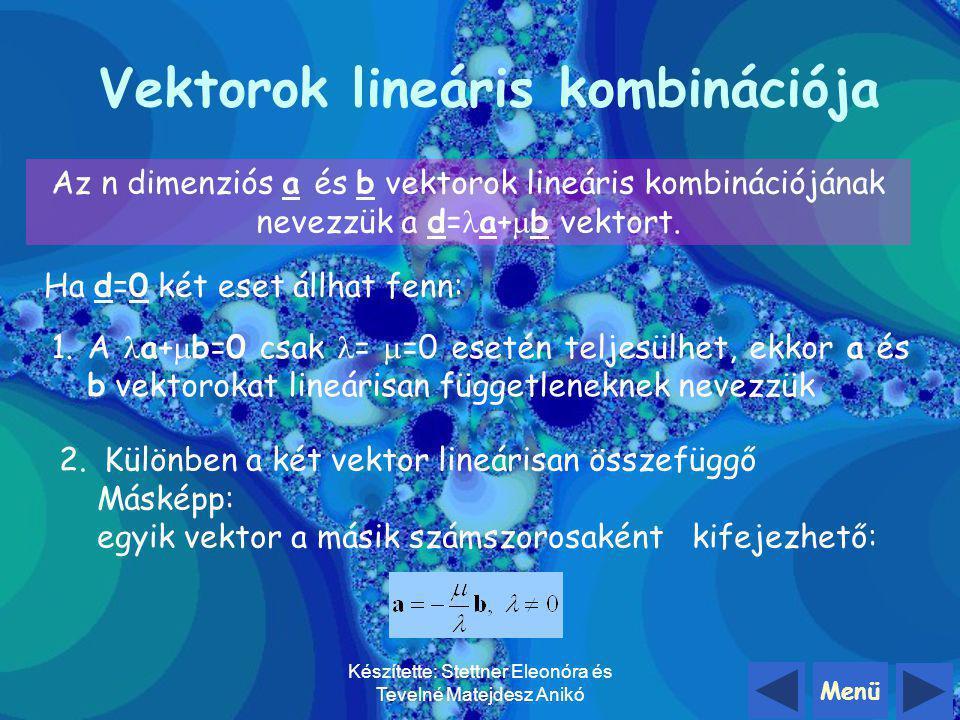 Vektorok lineáris kombinációja