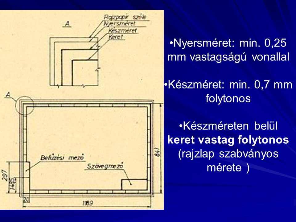 Nyersméret: min. 0,25 mm vastagságú vonallal
