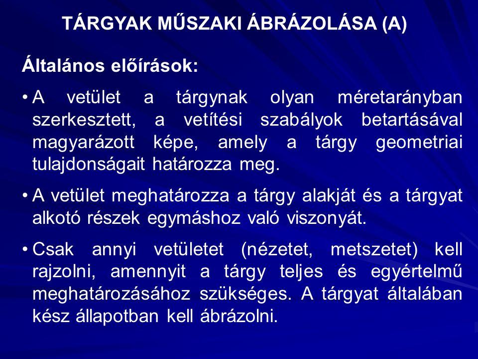 TÁRGYAK MŰSZAKI ÁBRÁZOLÁSA (A)