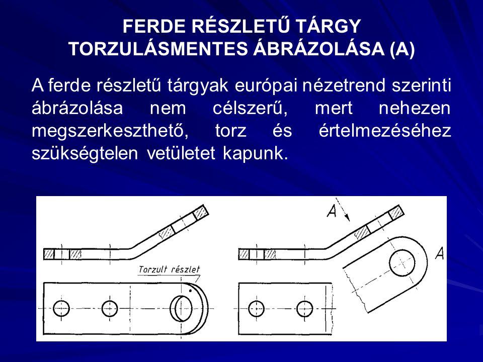FERDE RÉSZLETŰ TÁRGY TORZULÁSMENTES ÁBRÁZOLÁSA (A)