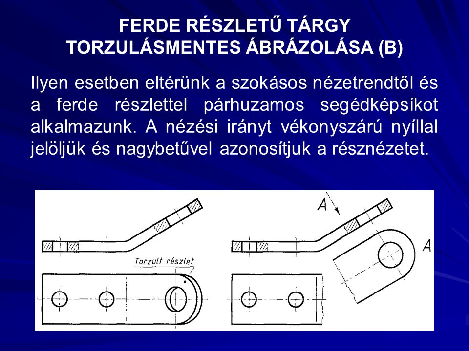 FERDE RÉSZLETŰ TÁRGY TORZULÁSMENTES ÁBRÁZOLÁSA (B)