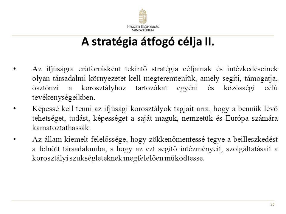 A stratégia átfogó célja II.