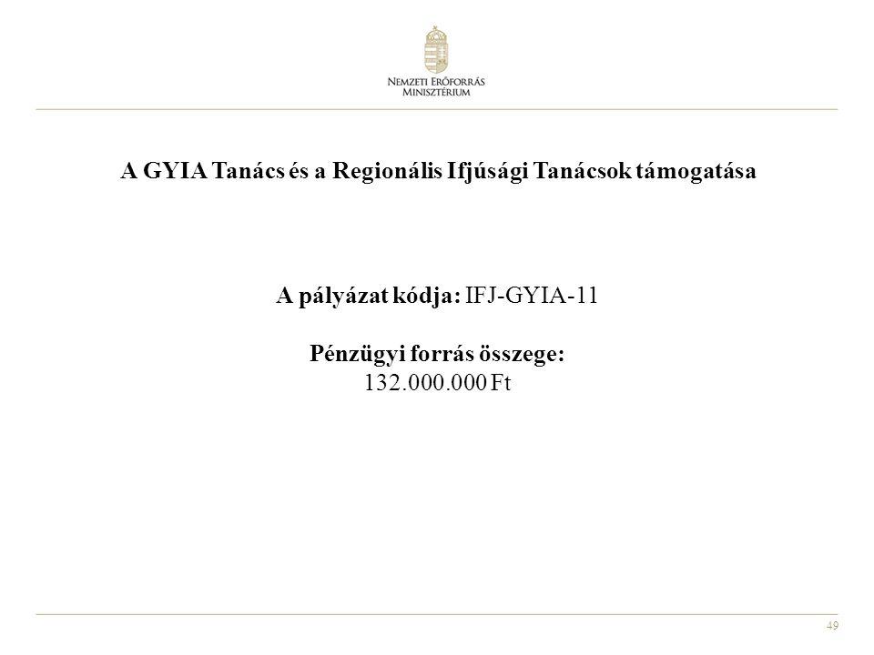 A GYIA Tanács és a Regionális Ifjúsági Tanácsok támogatása