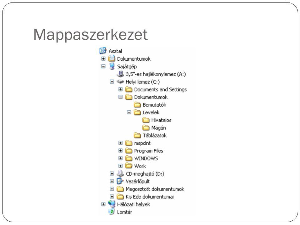 Mappaszerkezet