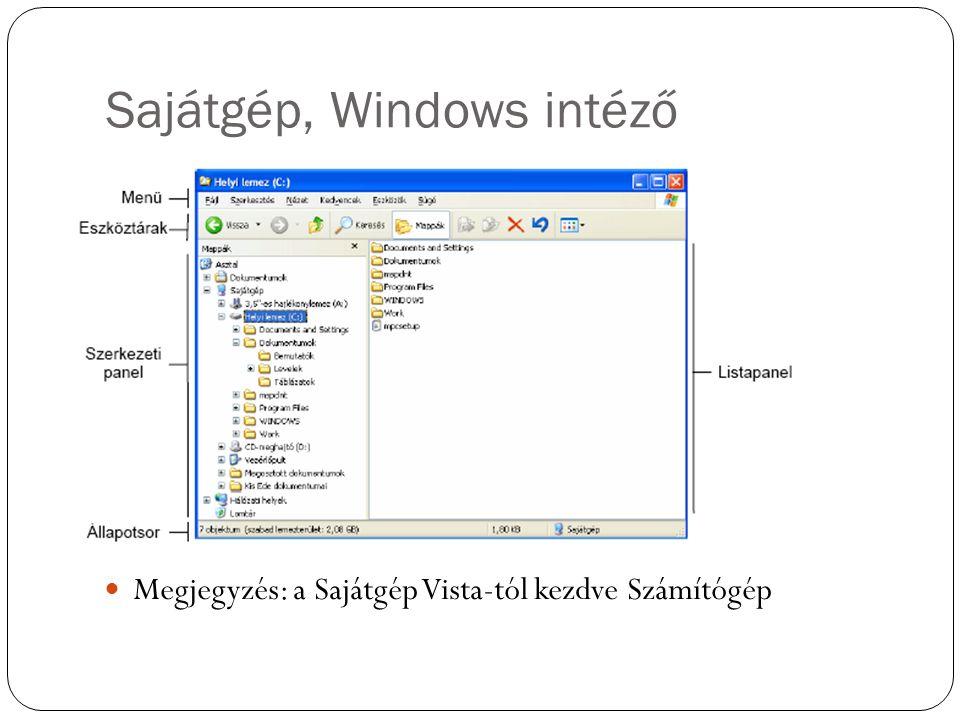 Sajátgép, Windows intéző