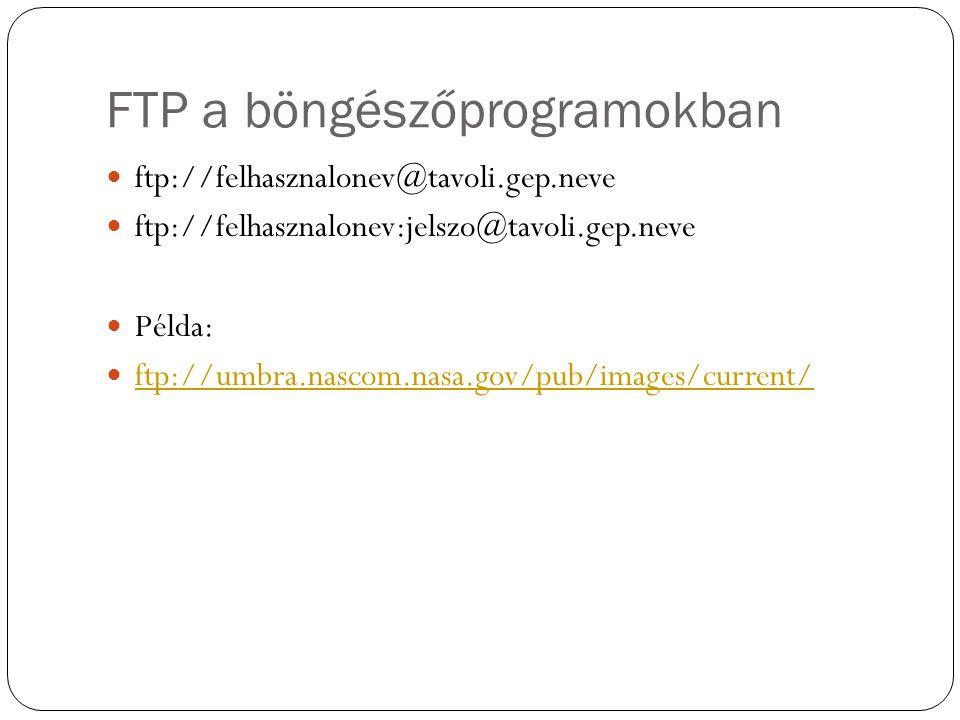 FTP a böngészőprogramokban