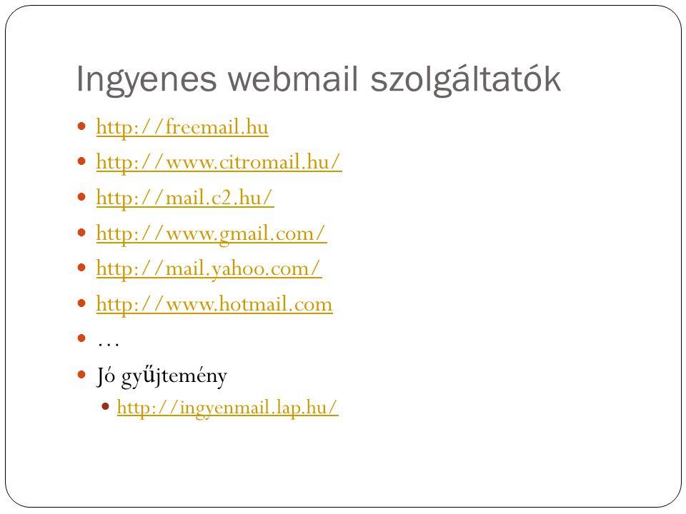 Ingyenes webmail szolgáltatók