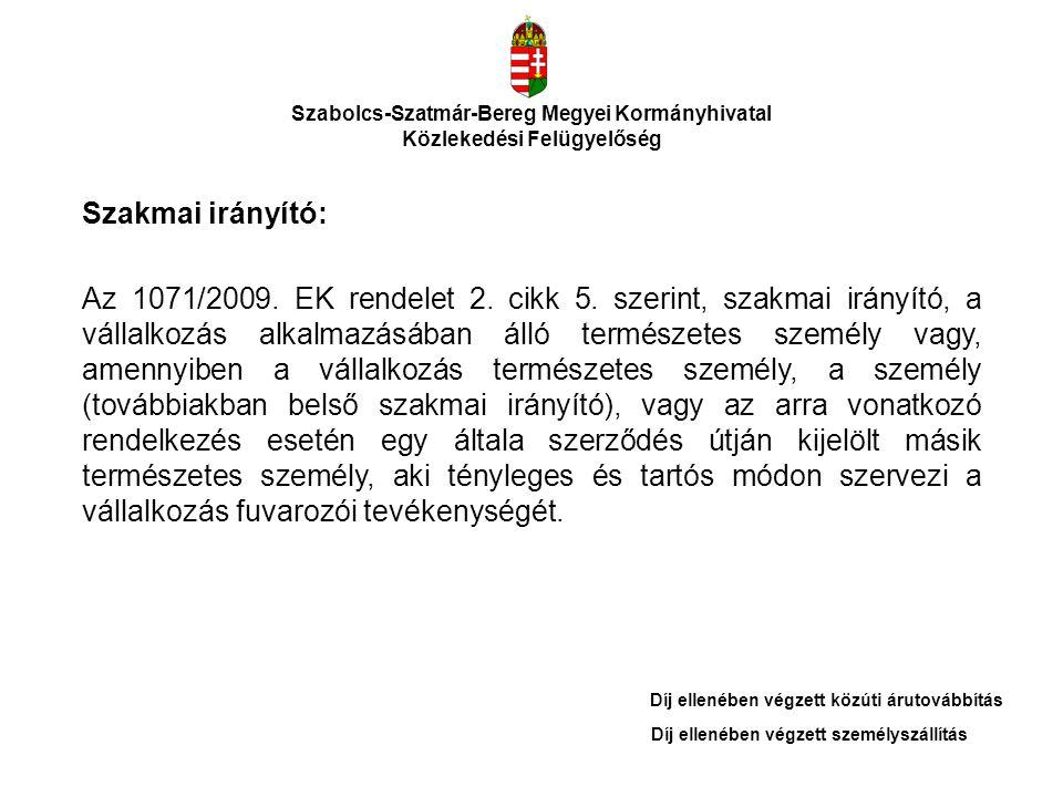 Szabolcs-Szatmár-Bereg Megyei Kormányhivatal Közlekedési Felügyelőség