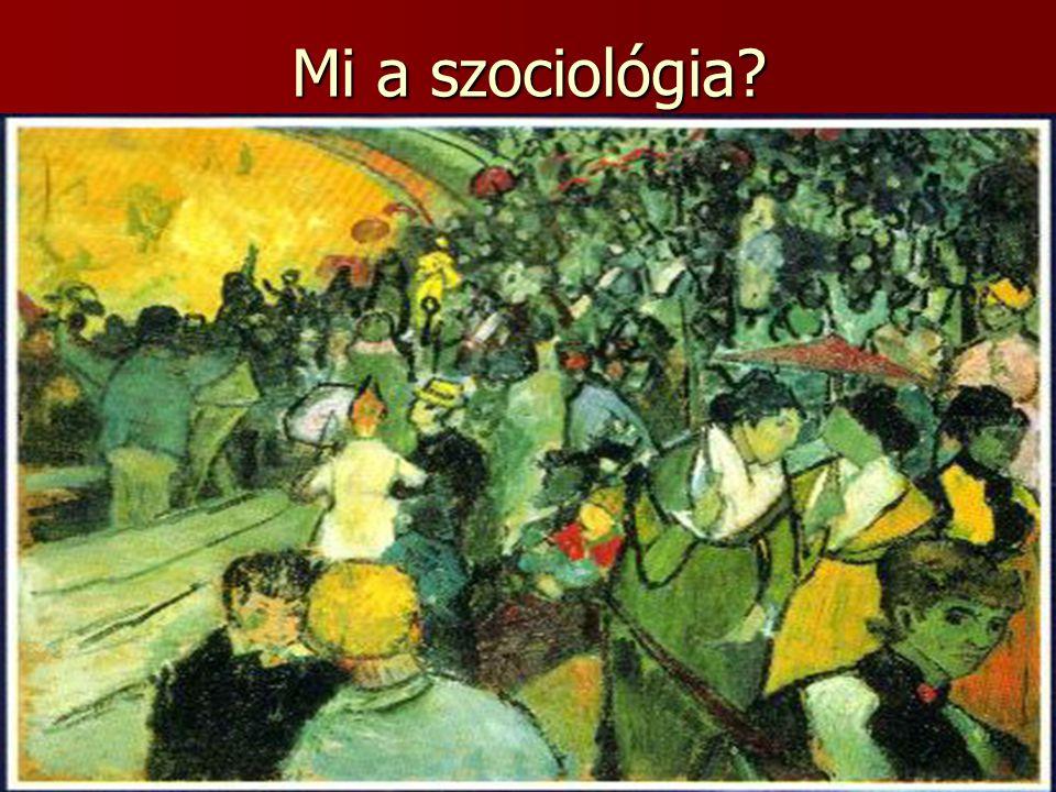 Mi a szociológia
