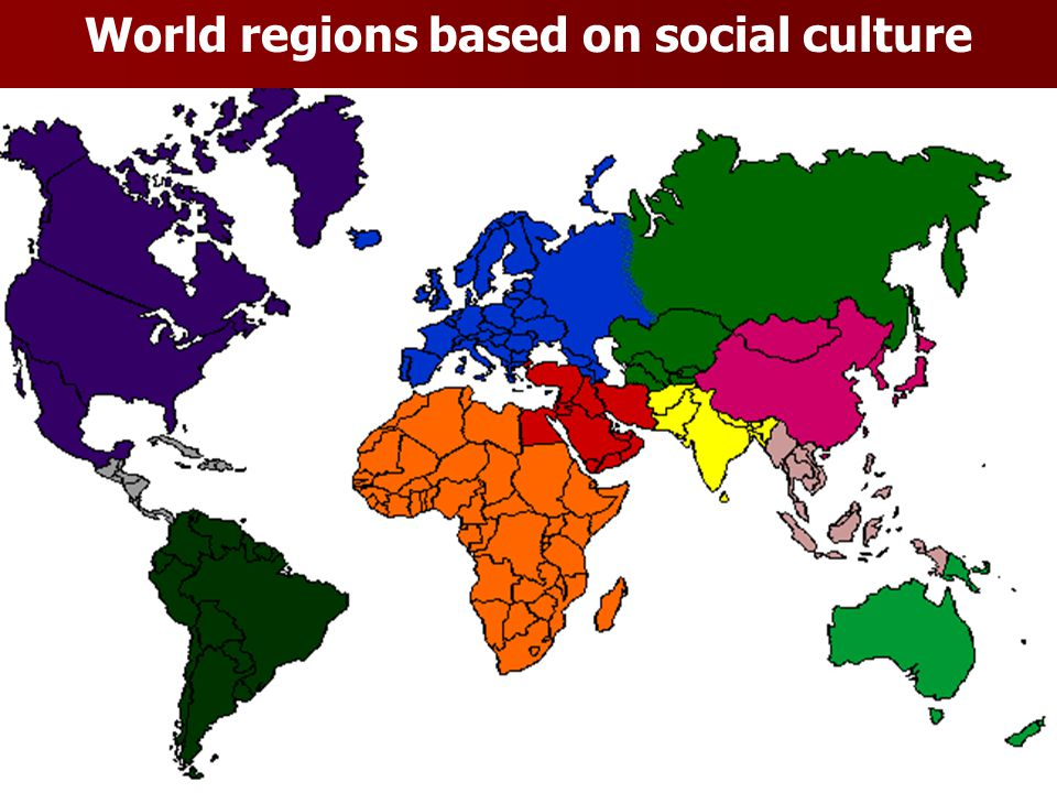 World regions based on social culture