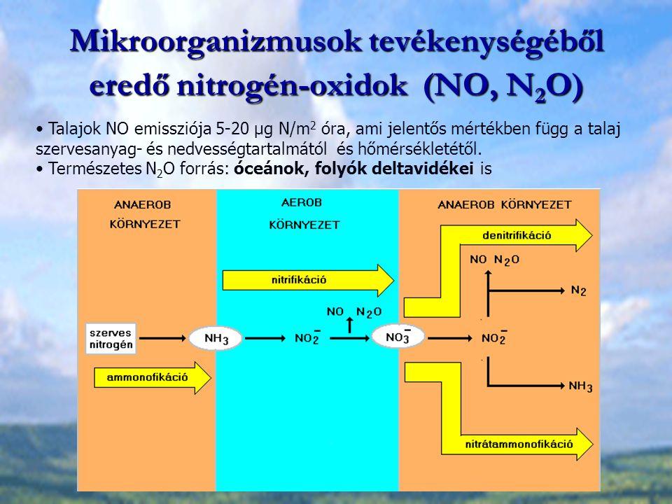 Mikroorganizmusok tevékenységéből eredő nitrogén-oxidok (NO, N2O)