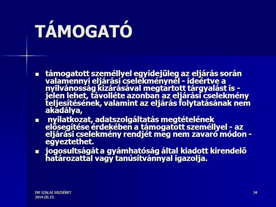 TÁMOGATÓ