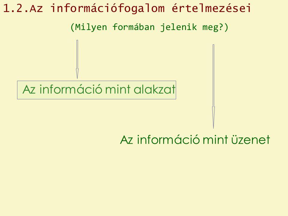 Az információ mint alakzat