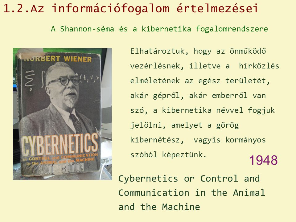 1948 1.2.Az információfogalom értelmezései